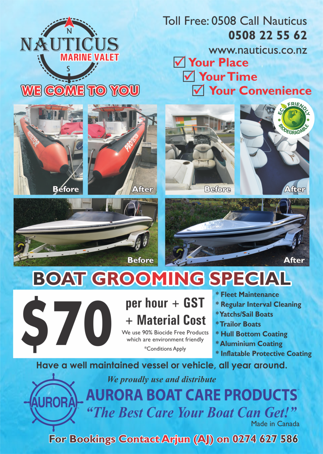 BOAT GROOMING SPECIAL