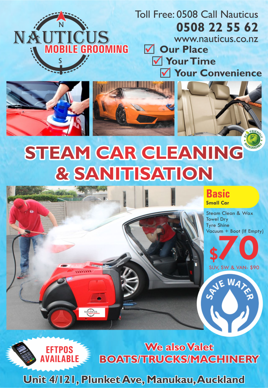STEAM CAR CLEANING