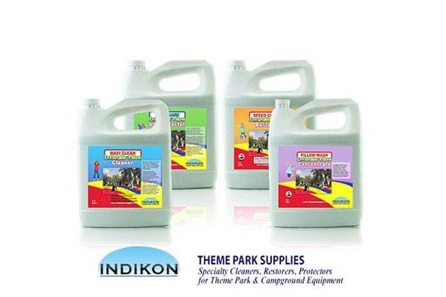 Indikon Cleaners, restorers, protectors for theme park and campground equipment